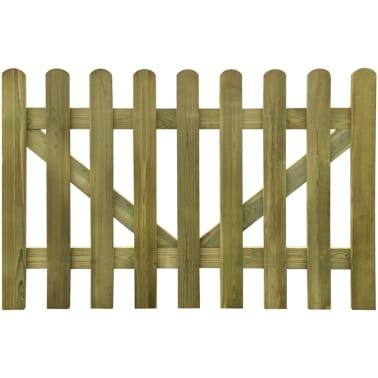 vidaXL Vrata za vrtno ograjo 2 kosa 300x100 cm FSC impregniran les[3/4]