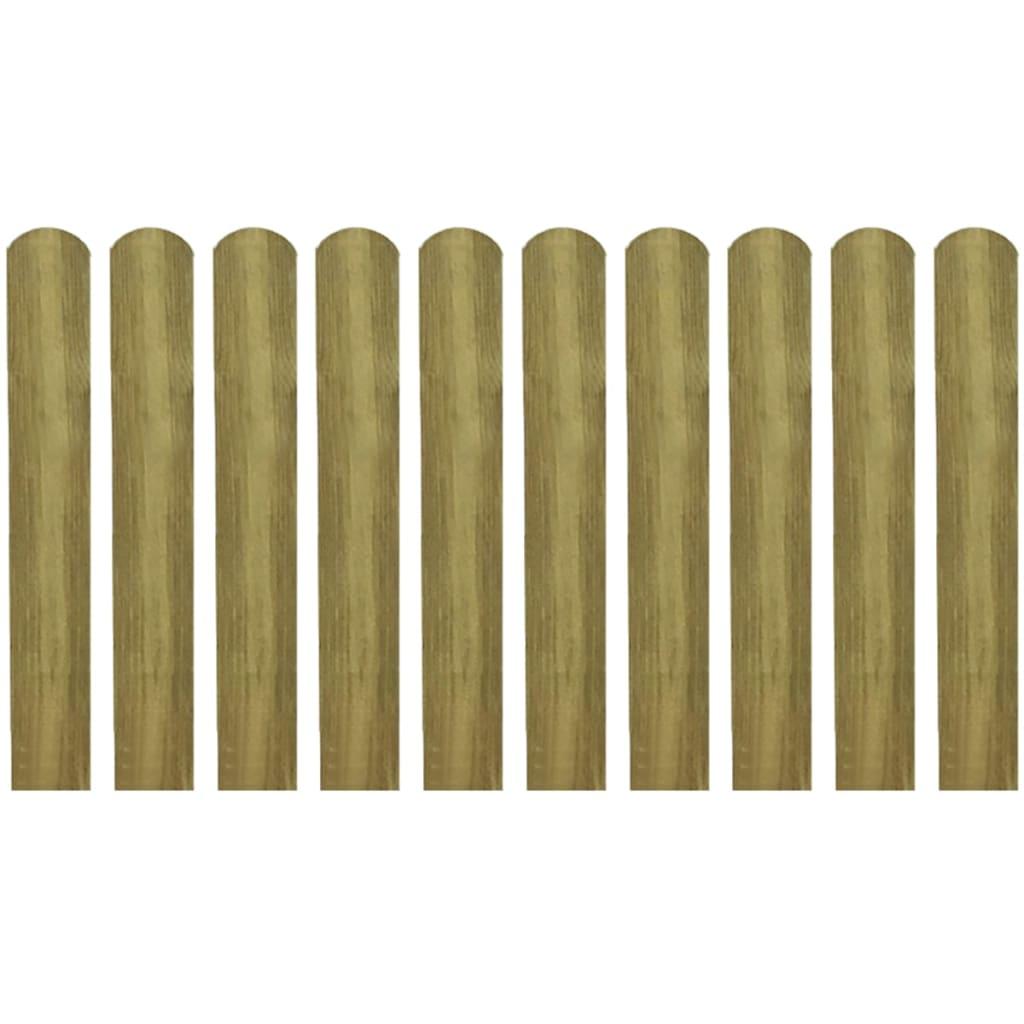 vidaXL Impregnované plotovky 10 ks dřevo 60 cm