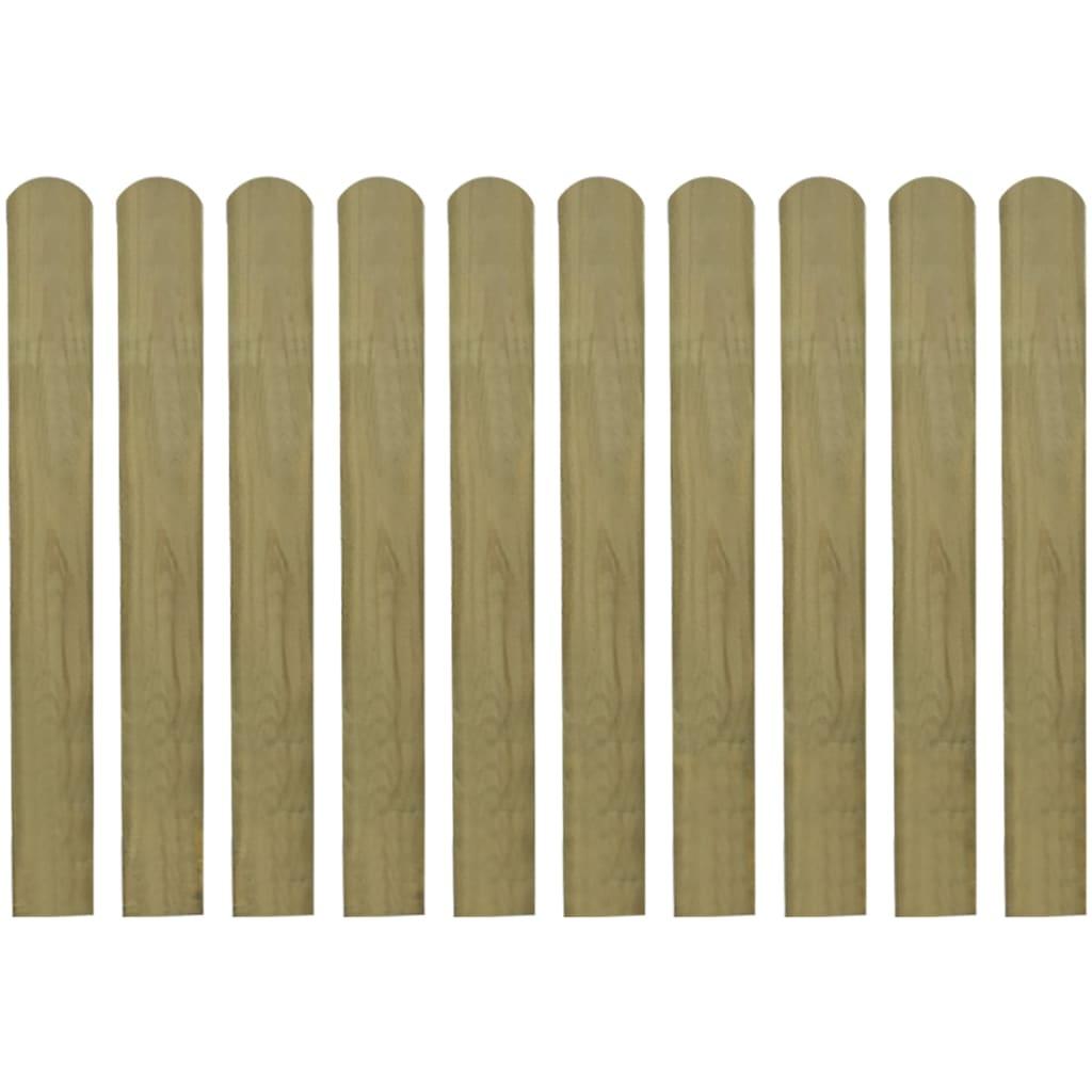 vidaXL Impregnované plotovky 10 ks FSC dřevo  80 cm