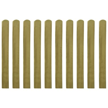 vidaXL Impregnirane ograjne letve 10 kosov FSC les 100 cm[1/2]