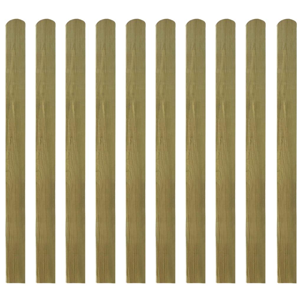 vidaXL Impregnované plotovky 10 ks FSC dřevo 120 cm