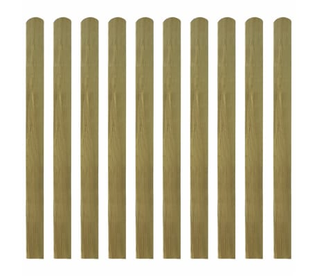 vidaXL Impregnated Fence Slats 10 pcs Wood 120 cm