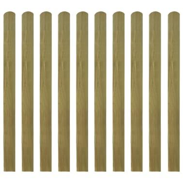 vidaXL Impregnirane ograjne letve 10 kosov FSC les 120 cm[1/2]