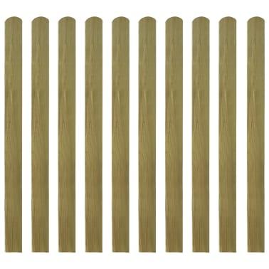 vidaXL Impregnirane ograjne letve 10 kosov FSC les 120 cm[2/2]