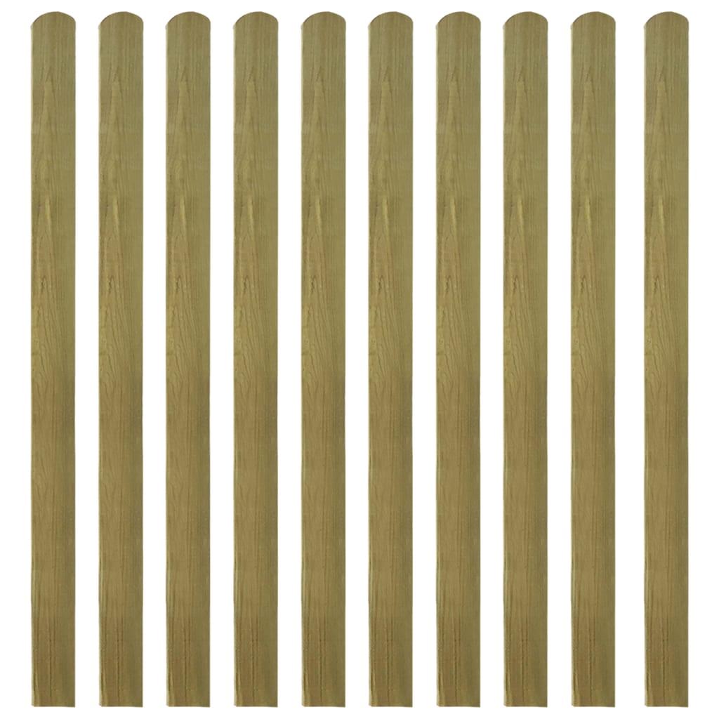 vidaXL Impregnované plotovky 10 ks FSC dřevo 140 cm