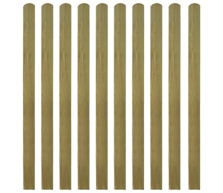 vidaXL Impregnerade staketribbor 10 st trä 140 cm