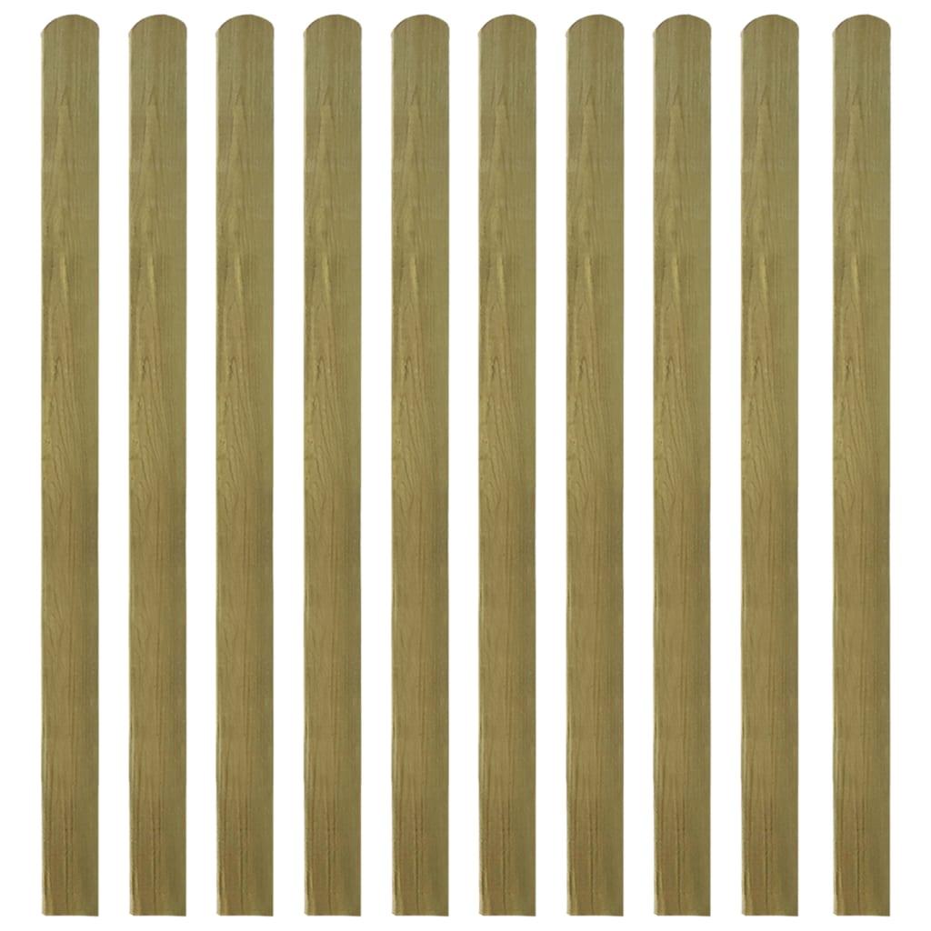 vidaXL Heklat ge�mpregneerd 10 st 140 cm hout