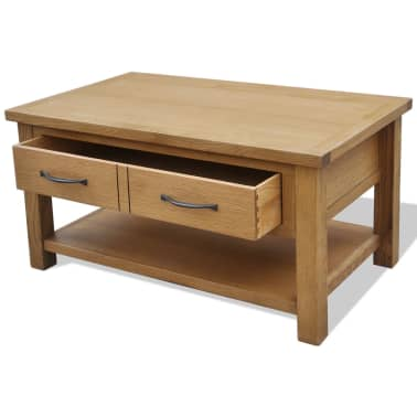 "vidaXL Oak Coffee Table 34.6""x20.9""x17.7""[3/5]"