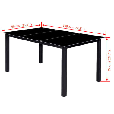 vidaXL 12 Piece Outdoor Dining Set Aluminium Black[16/16]