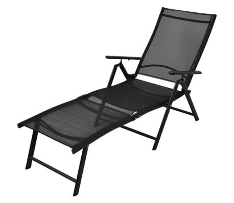 Voorkeur vidaXL Ligbed inklapbaar aluminium zwart online kopen | vidaXL.nl DX77