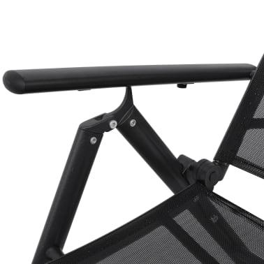 vidaXL Hopfällbar solsäng aluminium svart[4/6]
