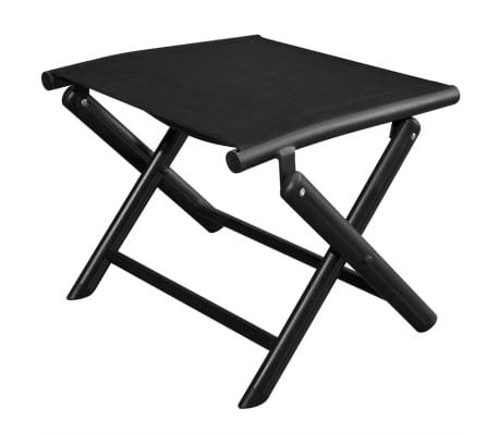 vidaXL Sulankstoma kėdutė kojoms, aliuminis, 41x49,5x38 cm, juoda[1/6]