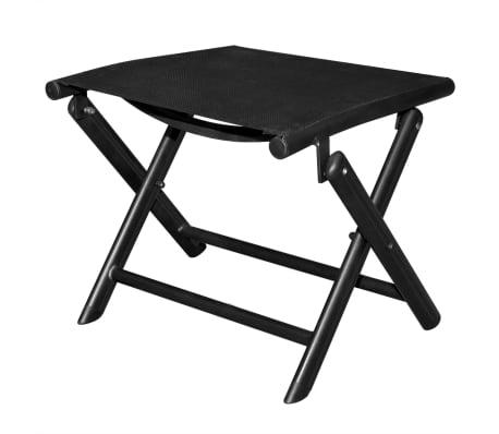 vidaXL Sulankstoma kėdutė kojoms, aliuminis, 41x49,5x38 cm, juoda[2/6]