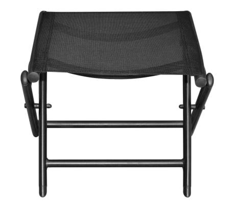vidaXL Sulankstoma kėdutė kojoms, aliuminis, 41x49,5x38 cm, juoda[3/6]