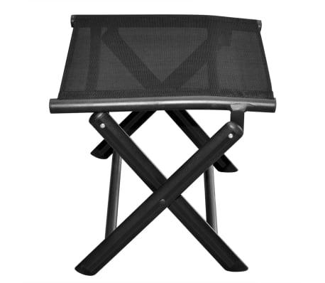 vidaXL Sulankstoma kėdutė kojoms, aliuminis, 41x49,5x38 cm, juoda[4/6]