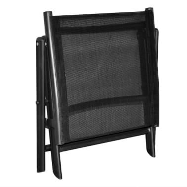 vidaXL Sulankstoma kėdutė kojoms, aliuminis, 41x49,5x38 cm, juoda[5/6]