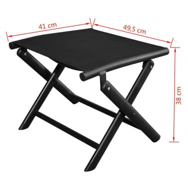 vidaXL Sulankstoma kėdutė kojoms, aliuminis, 41x49,5x38 cm, juoda[6/6]