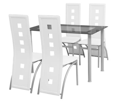 Kända Handla vidaXL Matbord och stolar 5 delar vit | vidaXL.se JO-95
