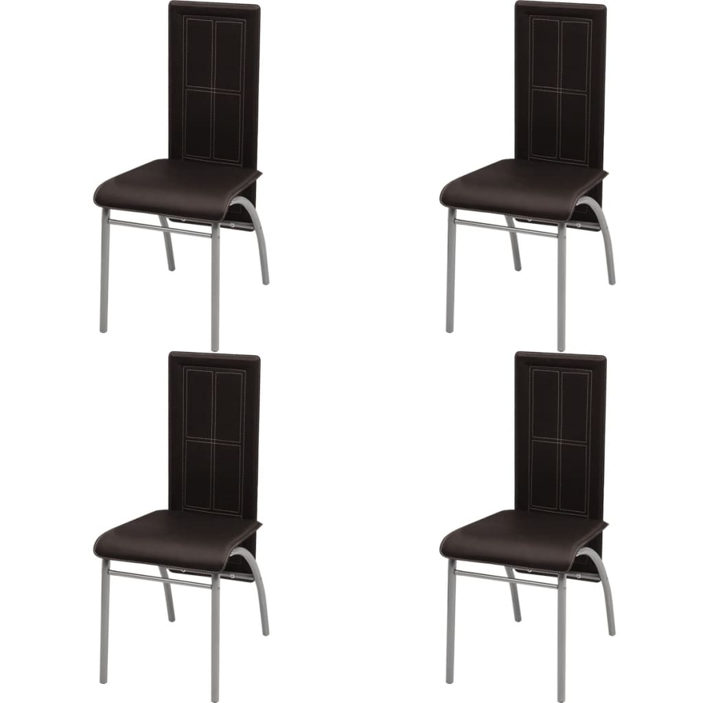vidaXL Καρέκλες Τραπεζαρίας 4 τεμ. Καφέ