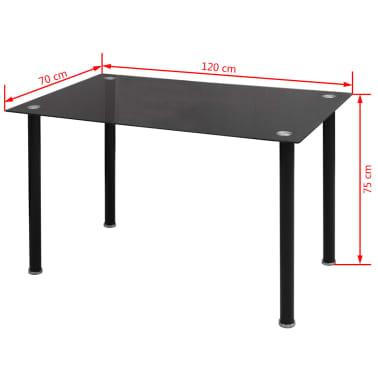 vidaxl 7 tlg esszimmergarnitur schwarz g nstig kaufen. Black Bedroom Furniture Sets. Home Design Ideas