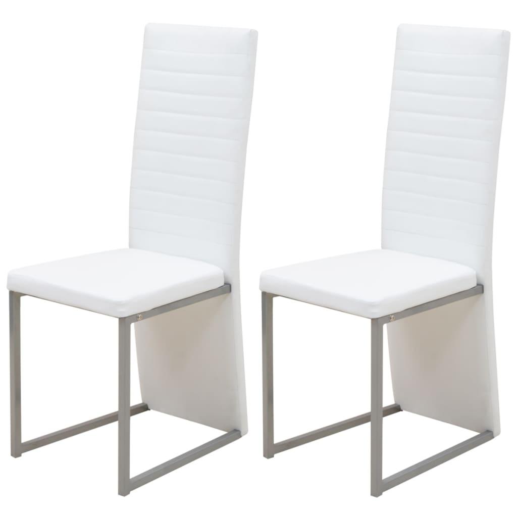 vidaXL Jídelní židle 2 ks bílé