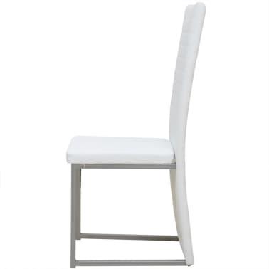 Vidaxl 4 pz sedie per sala da pranzo bianche for Sedie sala da pranzo prezzi