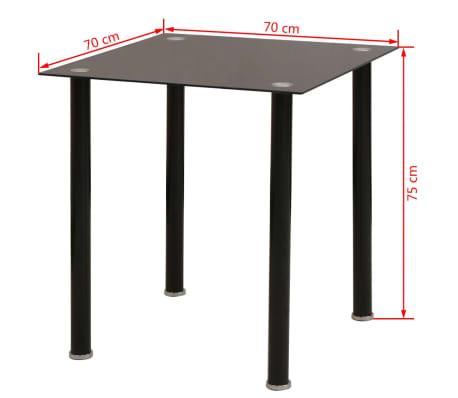 vidaxl 3 tlg essgruppe esstisch mit st hlen schwarz g nstig kaufen. Black Bedroom Furniture Sets. Home Design Ideas