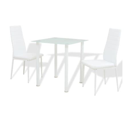 vidaxl 3 tlg essgruppe esstisch mit st hlen wei g nstig kaufen. Black Bedroom Furniture Sets. Home Design Ideas