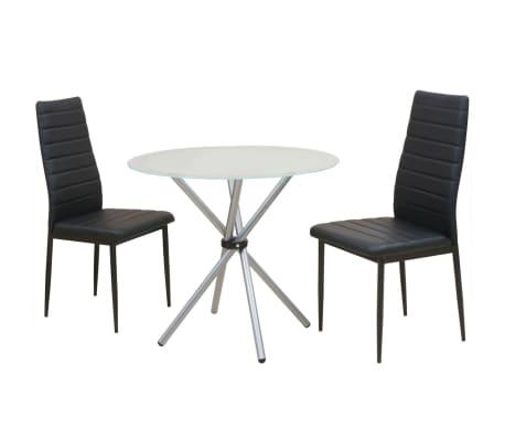 vidaXL Ensemble de table et chaise de salle à manger 3 pièces