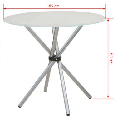 VidaXL 3-dijelni Blagovaonski Set Stol i Stolice[10/10]