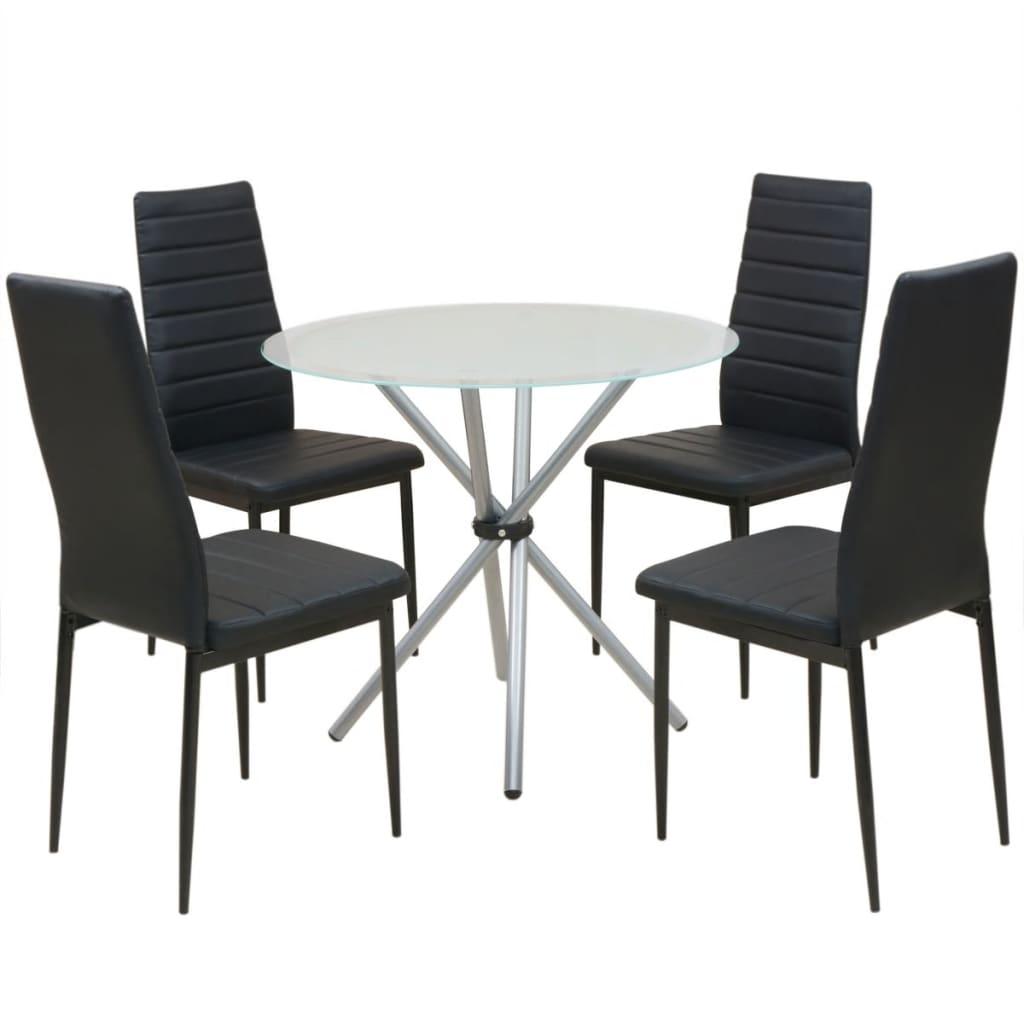 Pětidílný jídelní set stolu a židlí