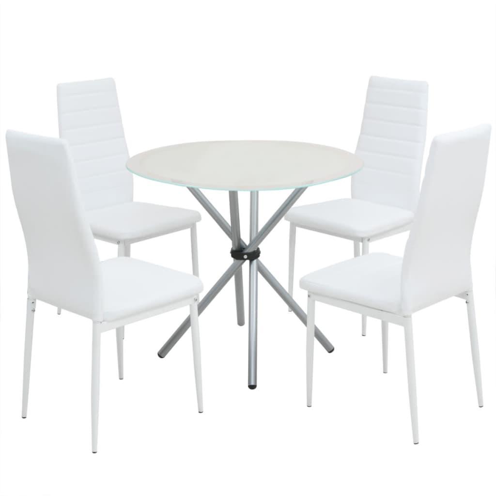 vidaXL Pětidílný jídelní set stolu a židlí