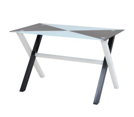 vidaXL Ensemble table et chaises de salle à manger 5 pcs en simili cuir[2/9]
