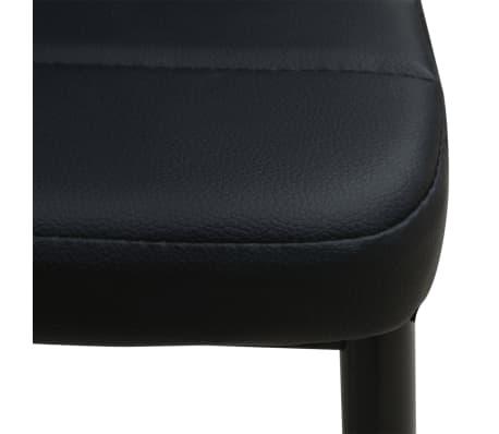 vidaXL Ensemble table et chaises de salle à manger 5 pcs en simili cuir[7/9]
