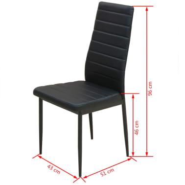 vidaXL Ensemble table et chaises de salle à manger 5 pcs en simili cuir[8/9]