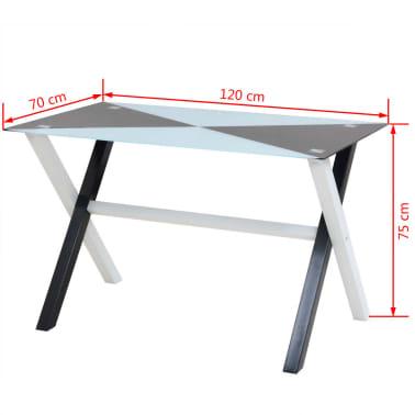 vidaXL Ensemble table et chaises de salle à manger 5 pcs en simili cuir[9/9]