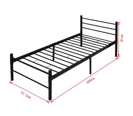 vidaxl einzelbett metall schwarz 90x200 cm g nstig kaufen. Black Bedroom Furniture Sets. Home Design Ideas