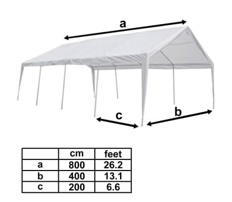 vidaXL Tent Top and Side Panels for 8x4 m Marquee[4/4]  sc 1 st  vidaXL home funriture and diy & vidaXL Tent Top and Side Panels for 8x4 m Marquee | vidaXL.com.au