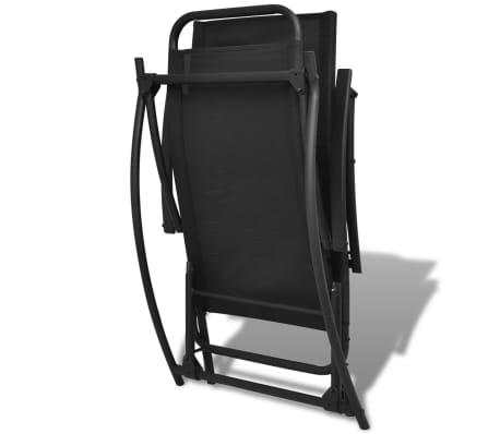 vidaXL Foldable Garden Rocking Chair Black[6/8]