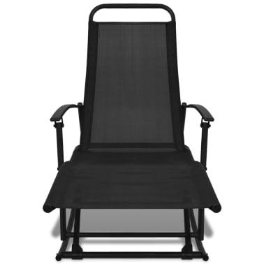 vidaXL Foldable Garden Rocking Chair Black[2/8]