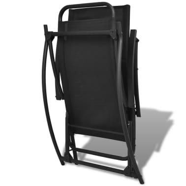 vidaXL Chaise à bascule de jardin Acier et textilène Noir[6/8]