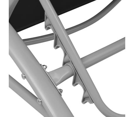 vidaXL Sun Loungers with Umbrella Aluminium Black[7/9]