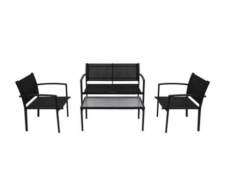 Outdoor Lounge Set 4 Pieces Texilene Garden Bench Table Chairs Furniture Patio❤