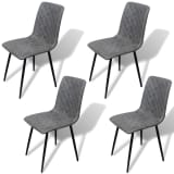 vidaXL Dining Chairs 4 pcs Artificial Leather Grey