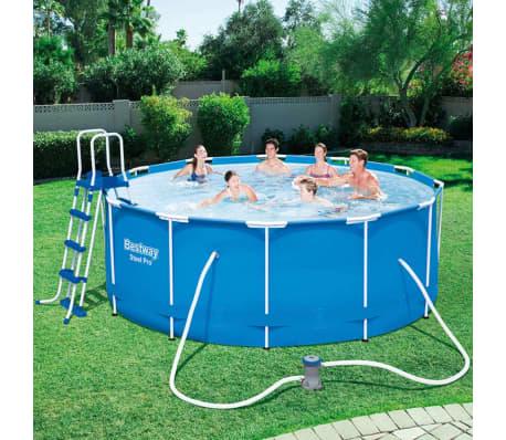 Bestway steel pro zwembad stalen frame rond 366x122 cm for Frame zwembad aanbieding
