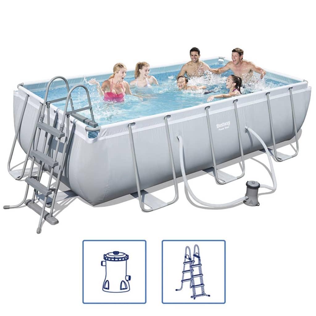 Bestway Power Steel Bazén set s ocelovým rámem 404x201x100 cm 56441