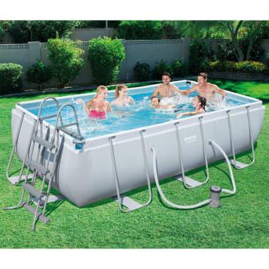 bestway jeu de piscine en acier pro cadre en acier 404x201x100 cm. Black Bedroom Furniture Sets. Home Design Ideas