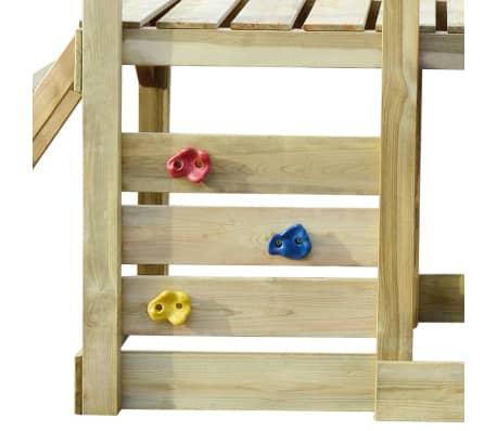 vidaXL Lekplats med trappa rutchkana och gungor 400x226x235 cm trä[4/7]