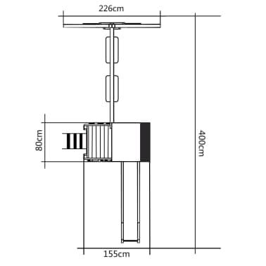vidaXL Lekplats med trappa rutchkana och gungor 400x226x235 cm trä[6/7]