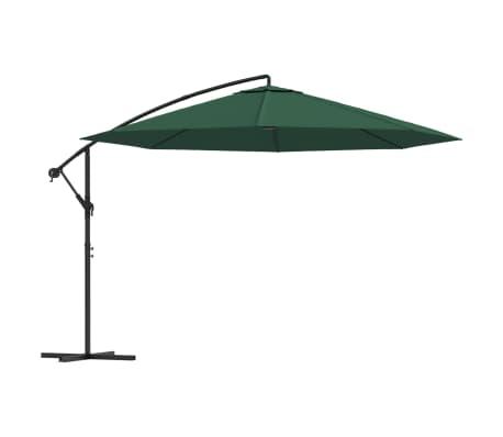 """vidaXL Cantilever Umbrella 137.8"""" Green"""